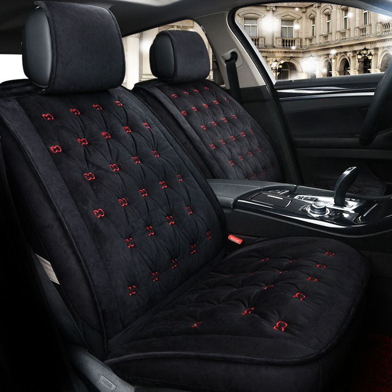 European Winter Seat Covers For Ford Kuga St Fusion Mustang Cmax Taurus Escape Edge Explorer Embroidery Seat Prote Car Seats Interior Accessories Carseat Cover