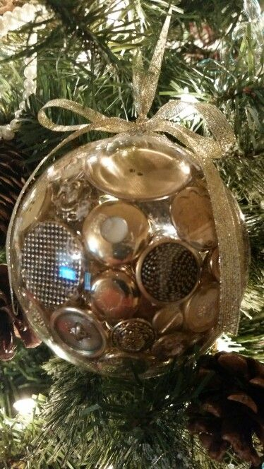 Gold button ornament   December 27, 2014.