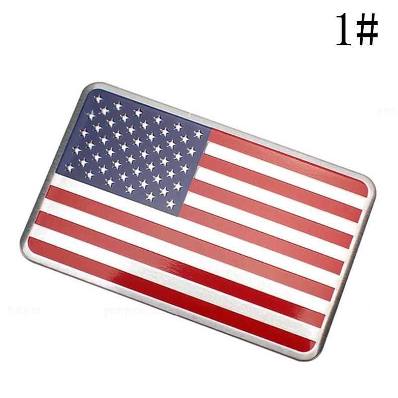 Us American Flag Car Sticker Auto Decor Decal Badge Emblem Adhesive Aluminium American Flag Sticker Decals Chrysler Jeep American Flag Sticker
