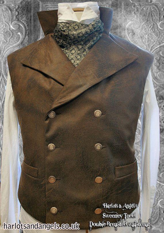XL Steampunk Double Breasted Waistcoat  Vest by Harlotsandangels, $19.50