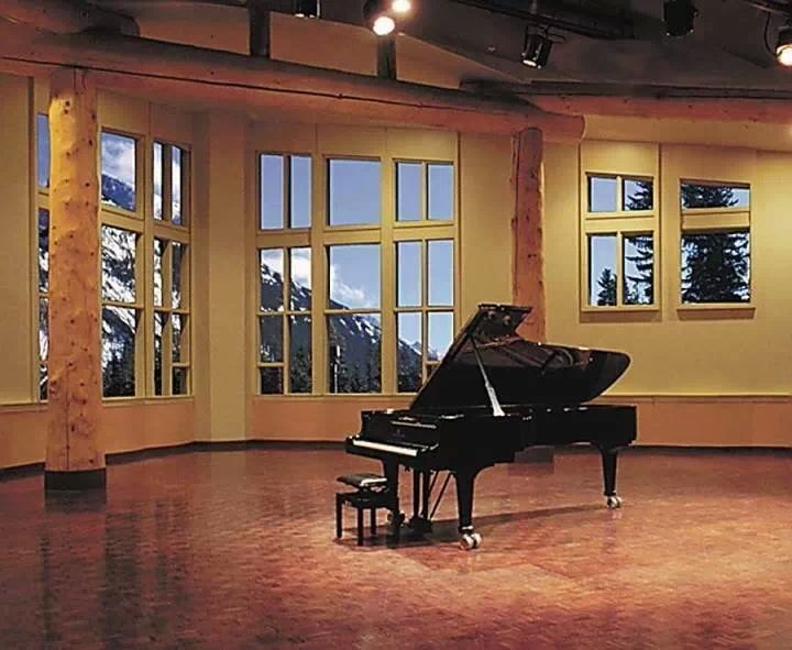 To Play A Grand Piano In A Huge Empty Room With A Magnificent