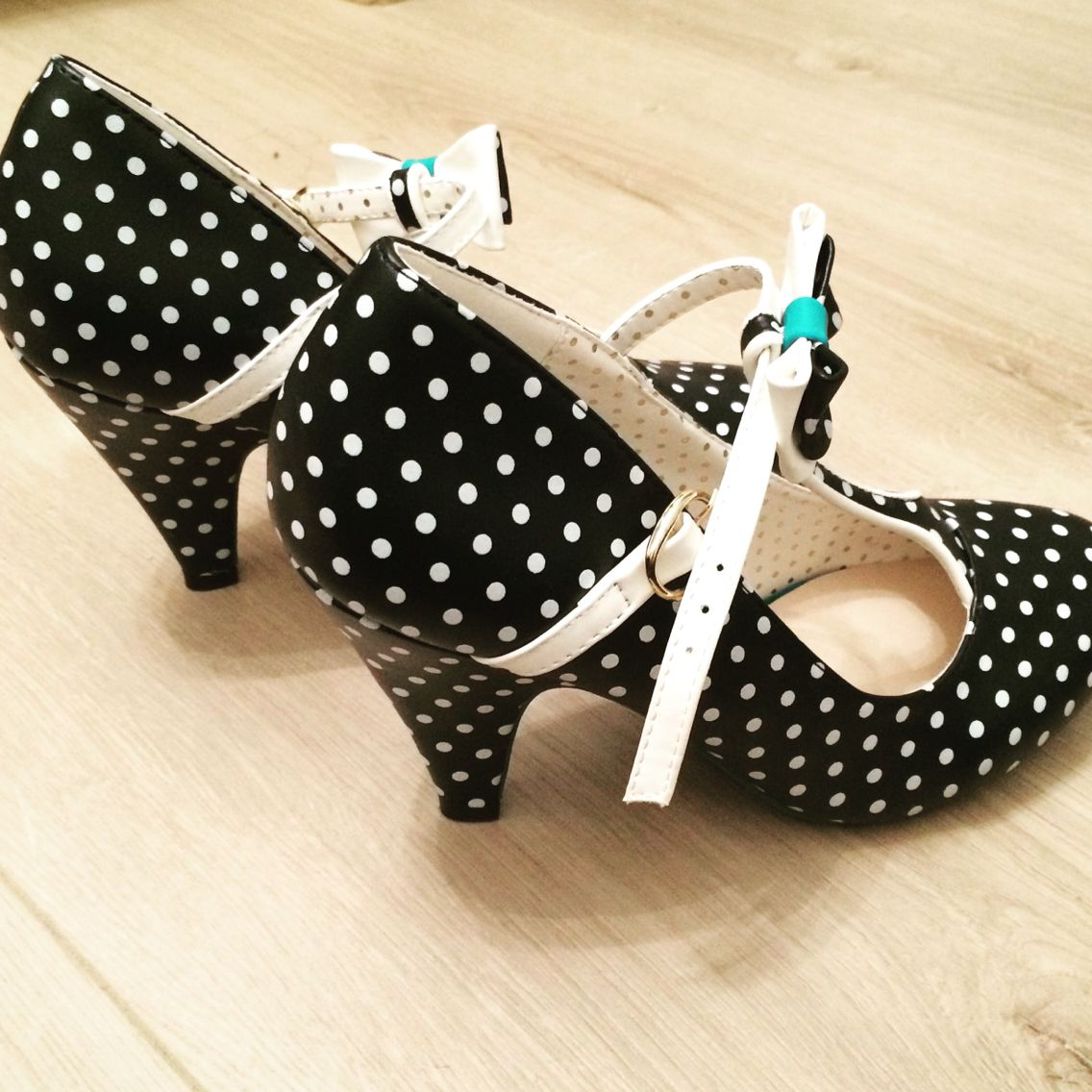 My lovely polkadots pumps from #Banned!