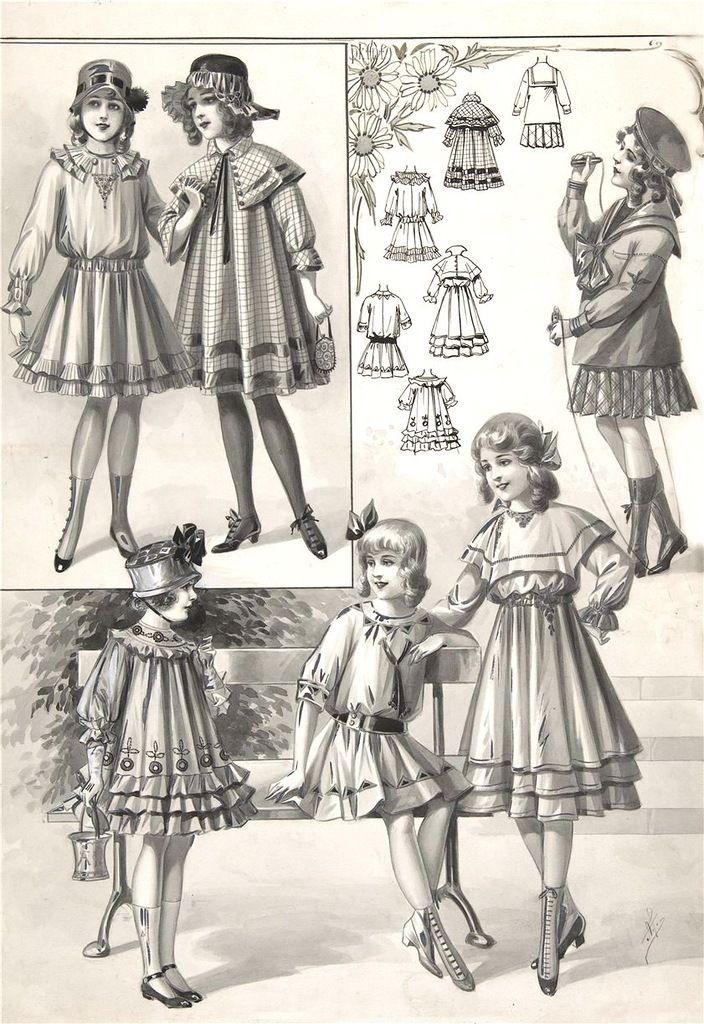 Страницы модного журнала 1900-1918 г. | Старая одежда ...
