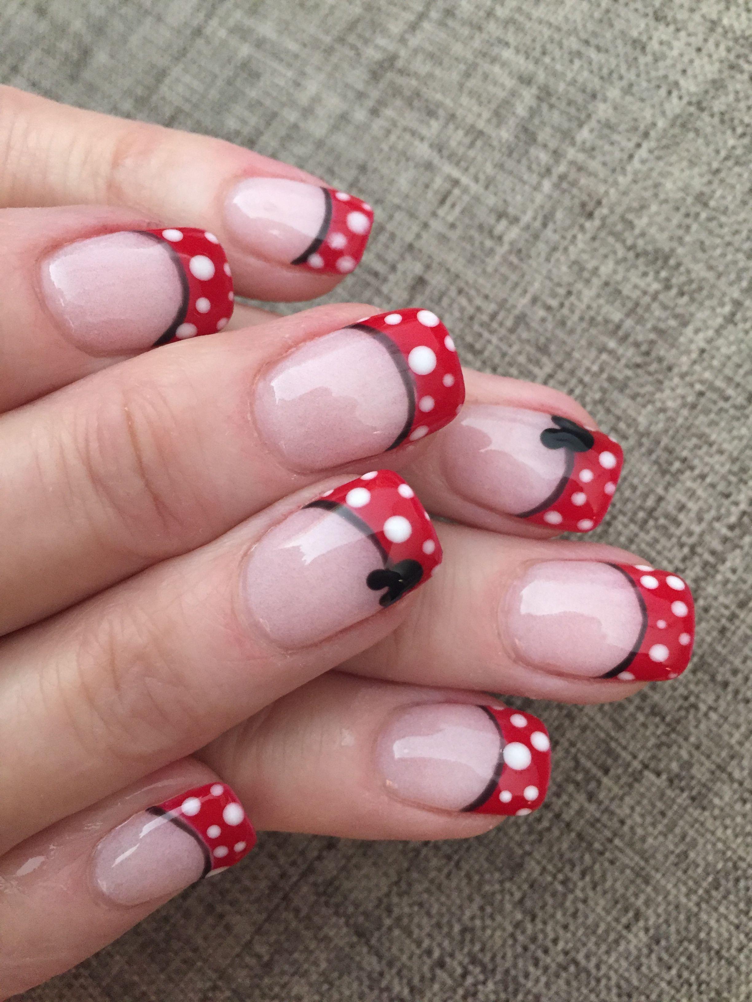 Disney Nails Minnie Inspired Disney Nails Disneyland Nails Disney Themed Nails Disney Nails