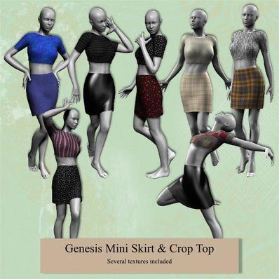 092 Genesis Mini Skirt & Crop Top
