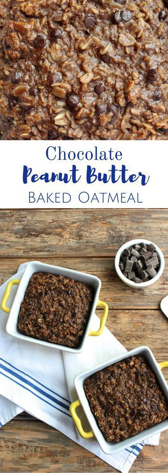 Peanut Butter Baked Oatmeal Chocolate Peanut Butter Baked Oatmeal = the best way to start off your day. This easy, healthy breakfast will keep you full throughout the day!Chocolate Peanut Butter Baked Oatmeal = the best way to start off your day. This easy, healthy breakfast will keep you full throughout the day!