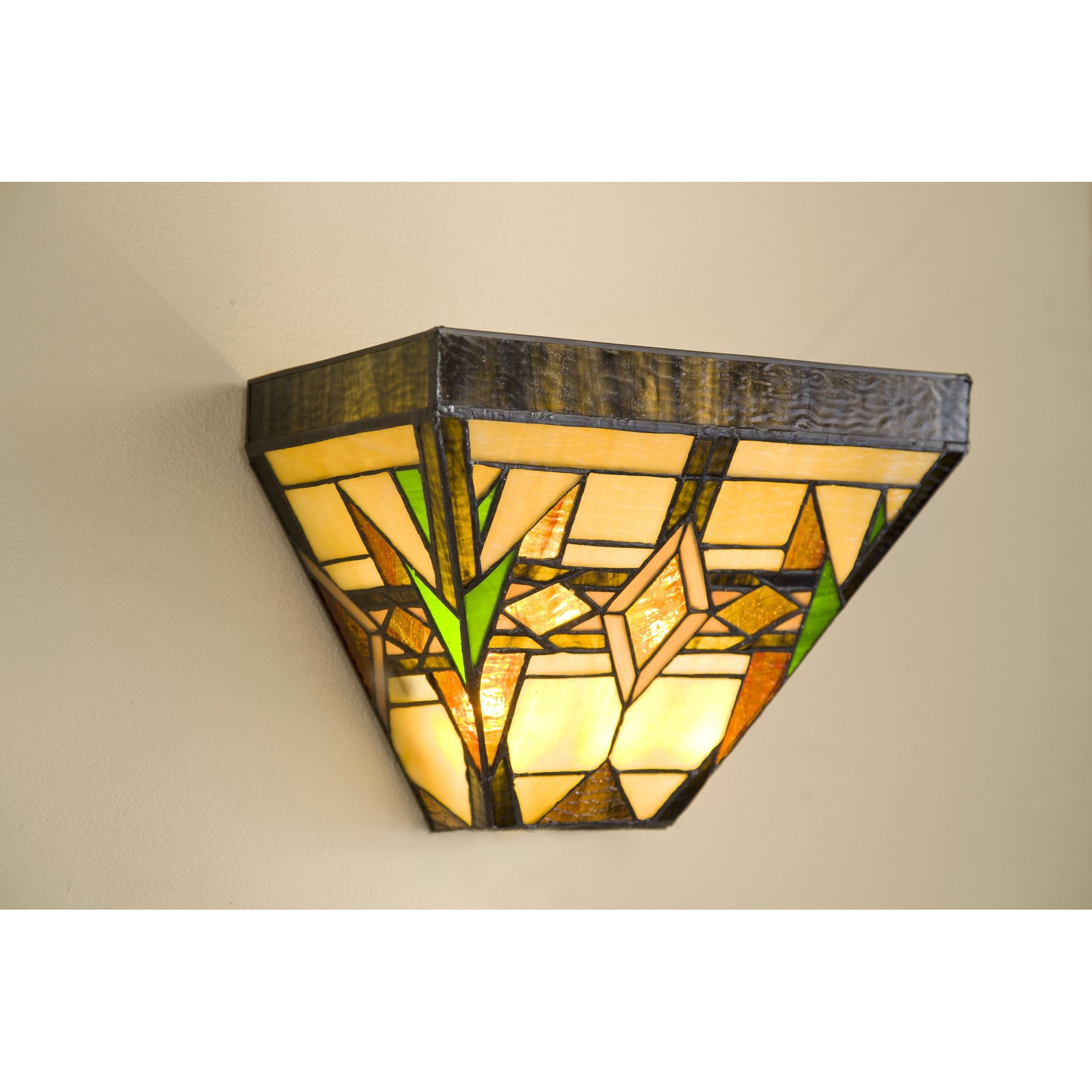 Plow U0026 Hearth Stained Glass Wireless Wall Sconce