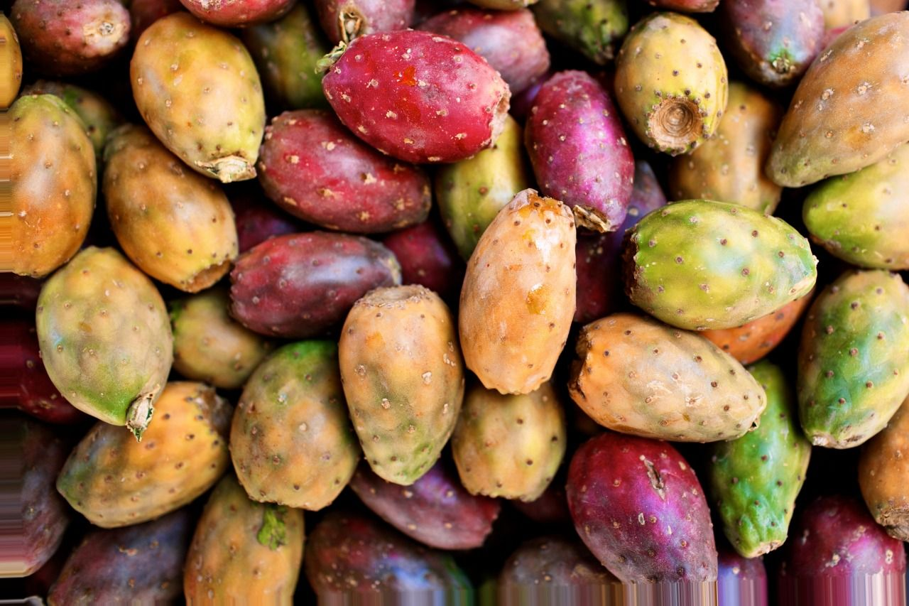 Cactus fruit at a street stand in Cajamarca, Peru. Photography: Olivia Rae James