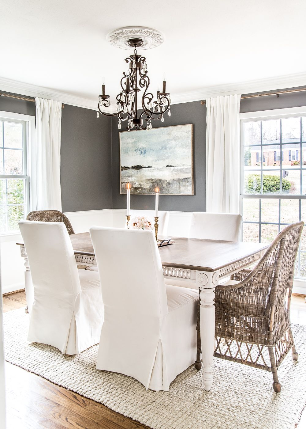 A Couple Of Tricks For Hanging The Perfect Mirror Gallery Wall Plus Ideas For A Traditional Me Dining Room Wall Decor Eclectic Dining Room Dining Room Makeover