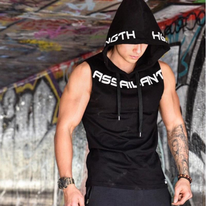 Men/'s Camo Hoodies Vest Tank Tops Sweatshirt Gym Muscle Sleeveless T-shirt Tops