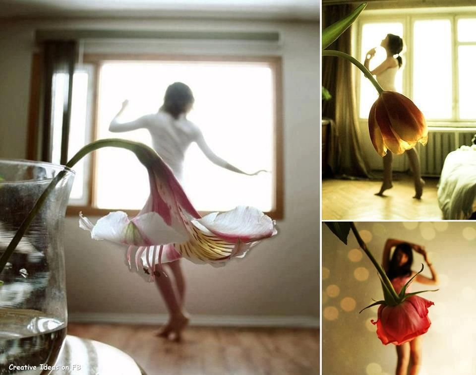 Lindas fotos de saias de flor!!