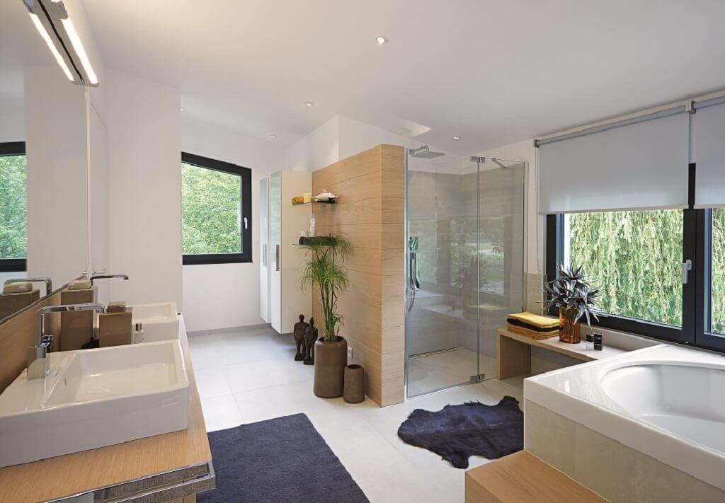 Badezimmer Einrichtungsideen ~ Modernes badezimmer mit holz möbel einrichtungsideen