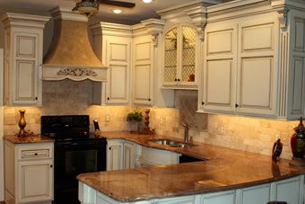 French Country Style Custom Kitchen Cabinets Branson Springfield