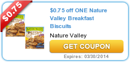 $0.75 off ONE Nature Valley Breakfast Biscuits