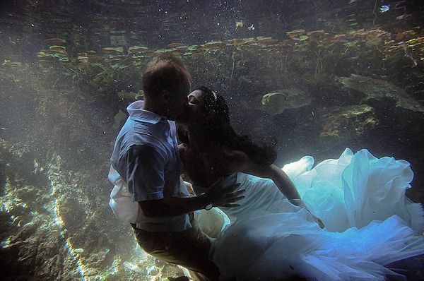 Awesome trash the dress...
