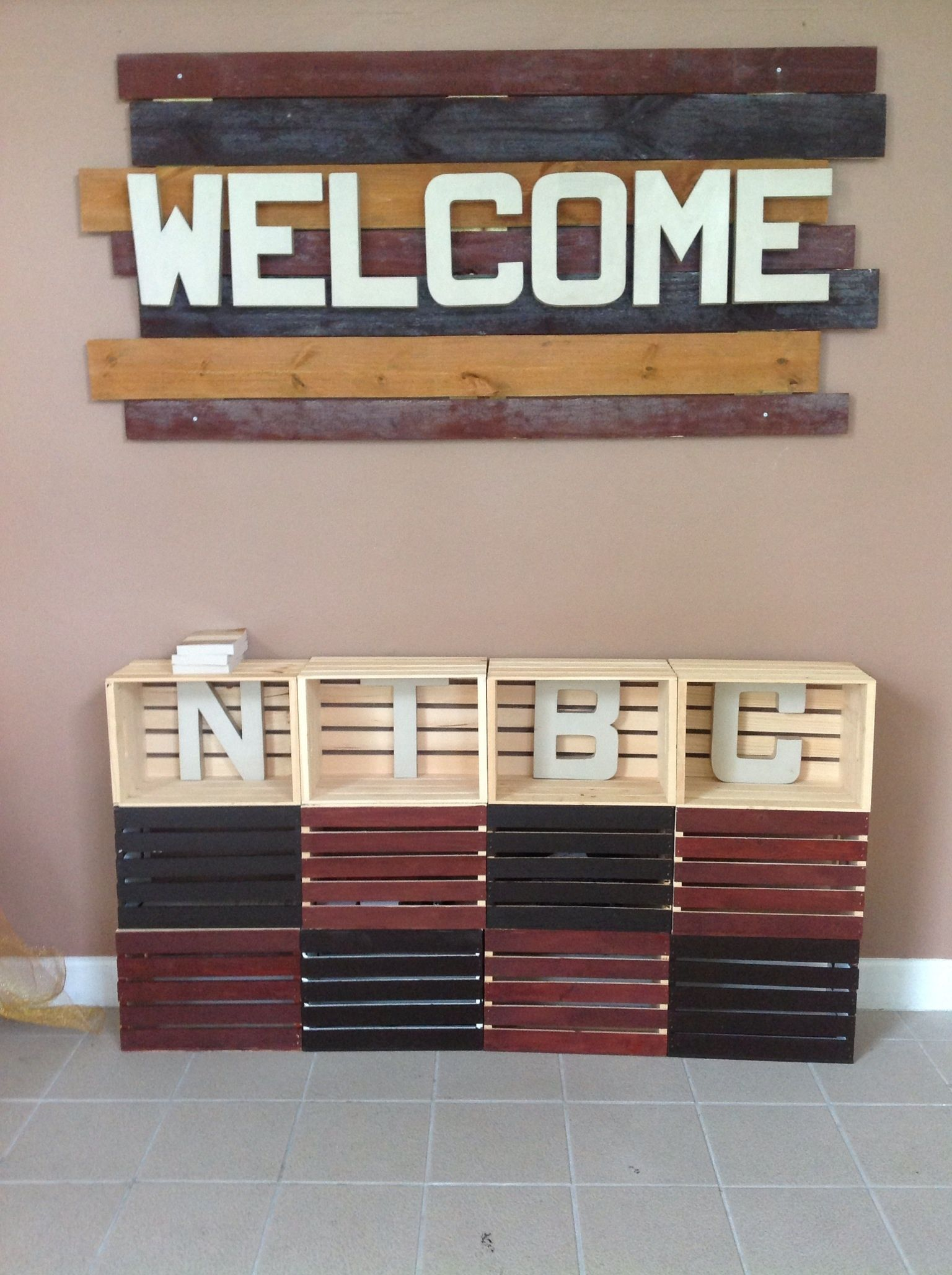 Lobby Sign Combine With Wooden Cross Idea Pinteres
