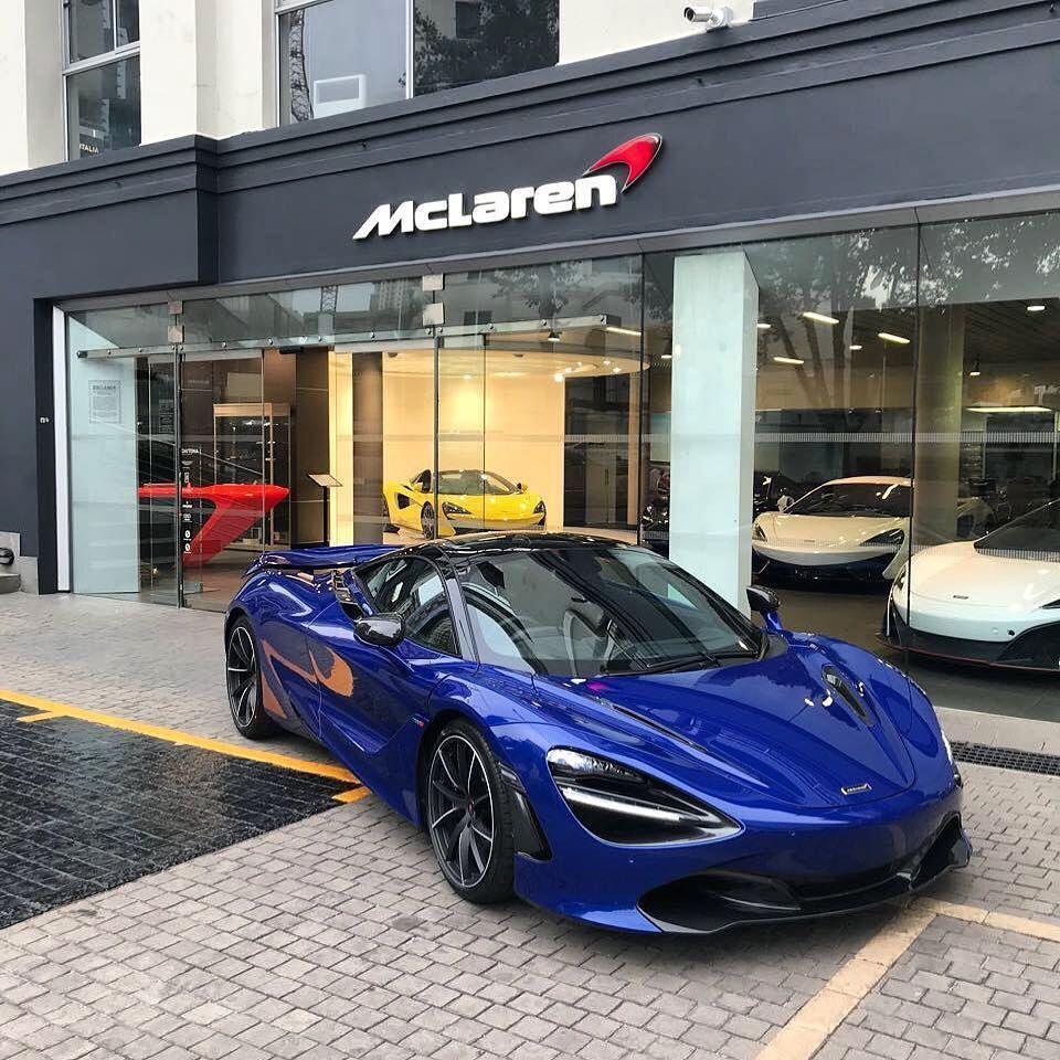 Aurora Blue Works Brilliantly On The Mac 720S #McLaren