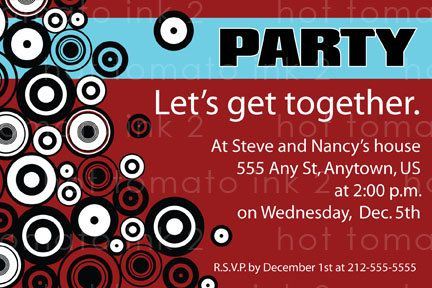 Get together party Invitation Just for fun by Hottomatoink2 – Invitation Card for Get Together