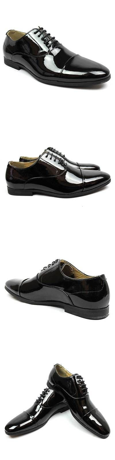 2d11b26bcab5 Other Mens Formal Occasion 114293  New Men S Black Tuxedo Cap Toe Lace Up  Oxford Dress Shoes Shiny Patent By Azar …
