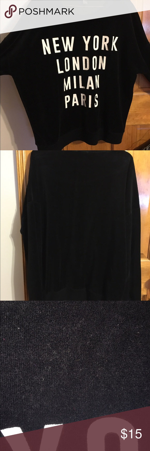 Forever 21 Black Long Sleeve Shirt This is probably the softest shirt I've ever owned! Sooo comfortable and warm! Purchased from Forever 21. Size Large. Tops Sweatshirts & Hoodies