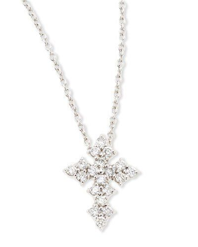 necklace gold chains in diamond cross white chain