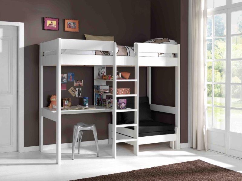 Hochbett Pino. Etagenbett 90x200cm mit Schreibtisch und Sesselbett ...