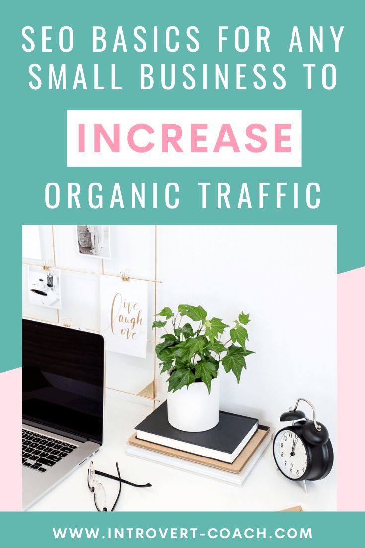 A list of the basic SEO tips and tricks for small business owners to improve their on-page search engine optimization and increase their website's organic traffic // Introvert Coach -- #businesstips #entrepreneur #seo #seotips #searchengineoptimization