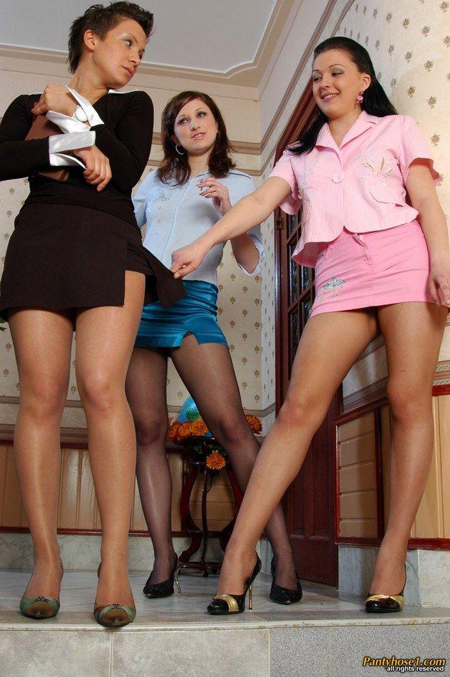 Lesbians in mini skirts