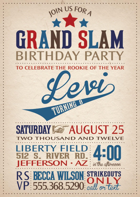 Baseball Birthday Invitation, Baseball Party, Baseball Party Package ...