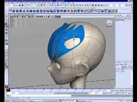3d Maya Anime Hair Modeling Tutorial Part 1 2 Free Maya