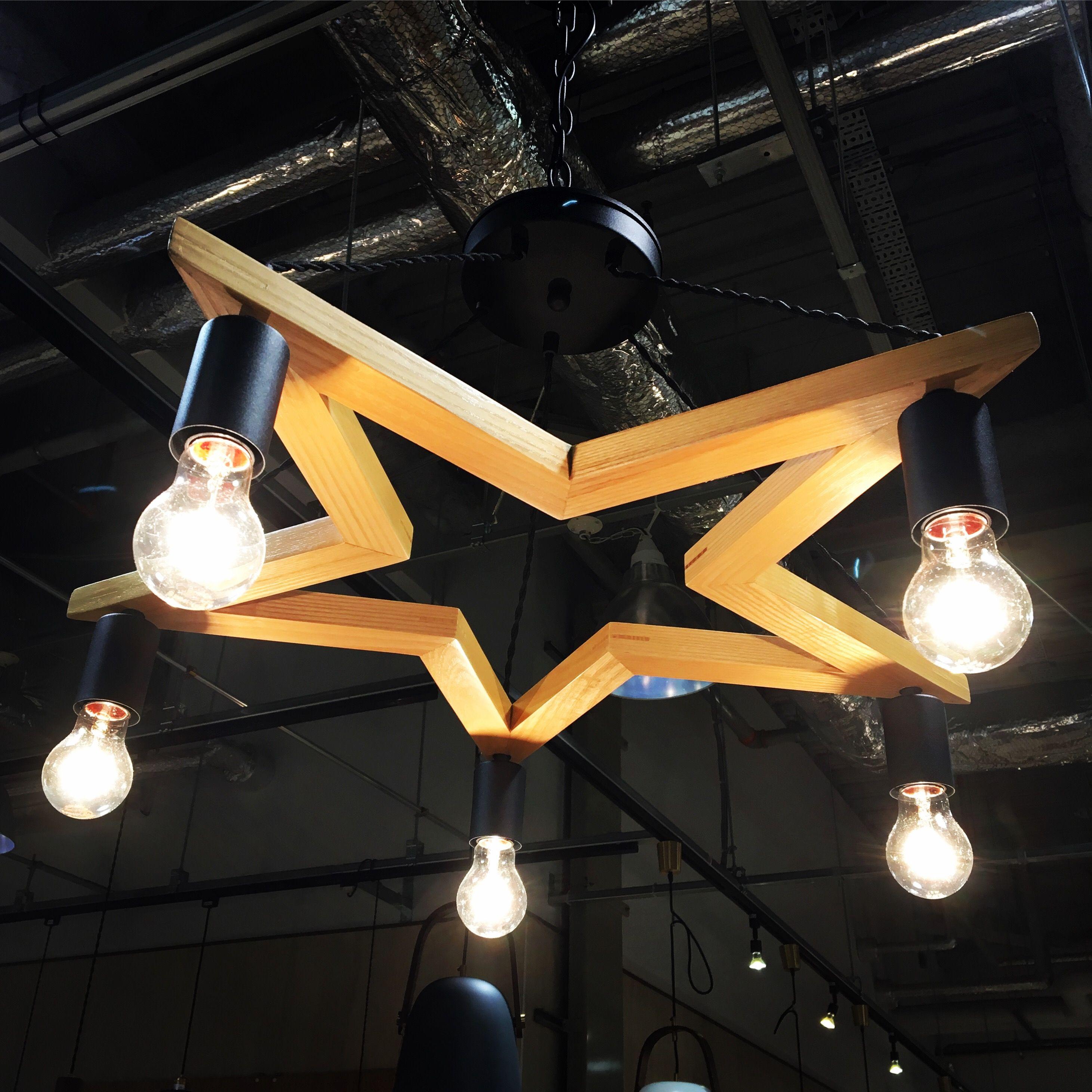 5bulb Wood Star ペンダントライト 照明 家