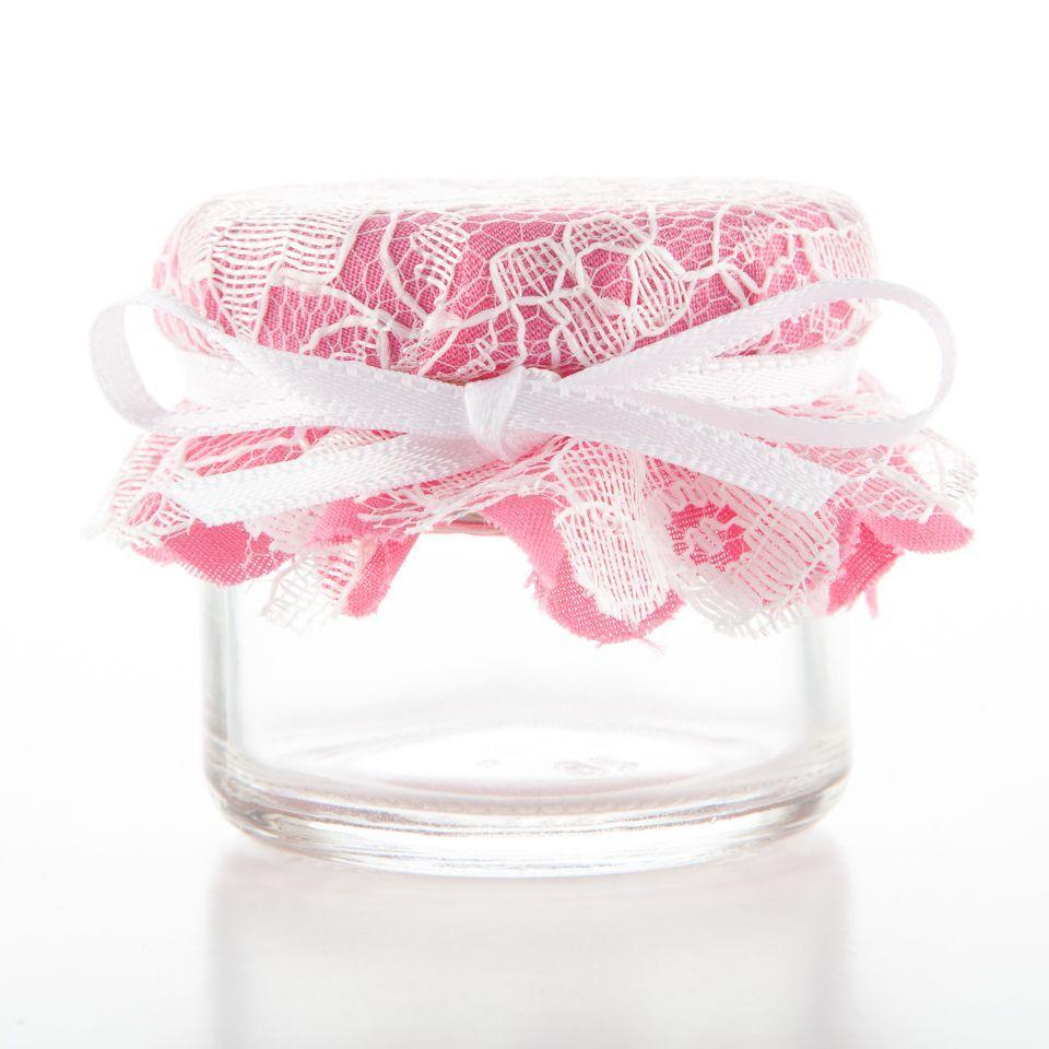 Dusky Pink & Lace - Jam Jar for Favour | Pinky <3 | Pinterest | Jar ...