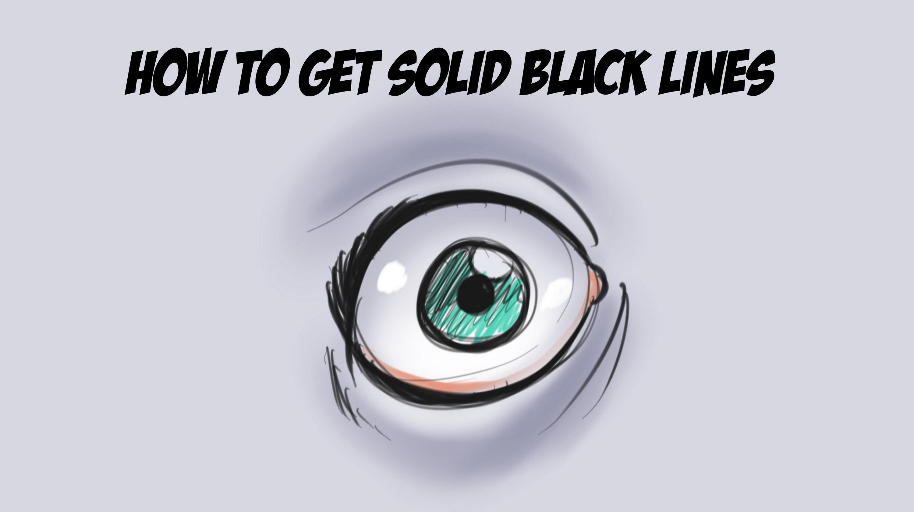 A Free Tutorial On How To Get Solid Jet Black Lines Using The