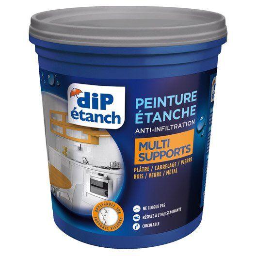 Peinture Etanche Anti Infiltrations Multi Supports Dip Blanc 0 75l Peinture Etanche Gris Galet Poignee Fenetre