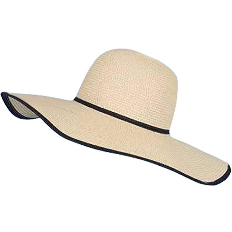 c861d95b2 Women Lady Wide Brim Straw Hat Floppy Foldable Roll up Beach Cap Sun ...