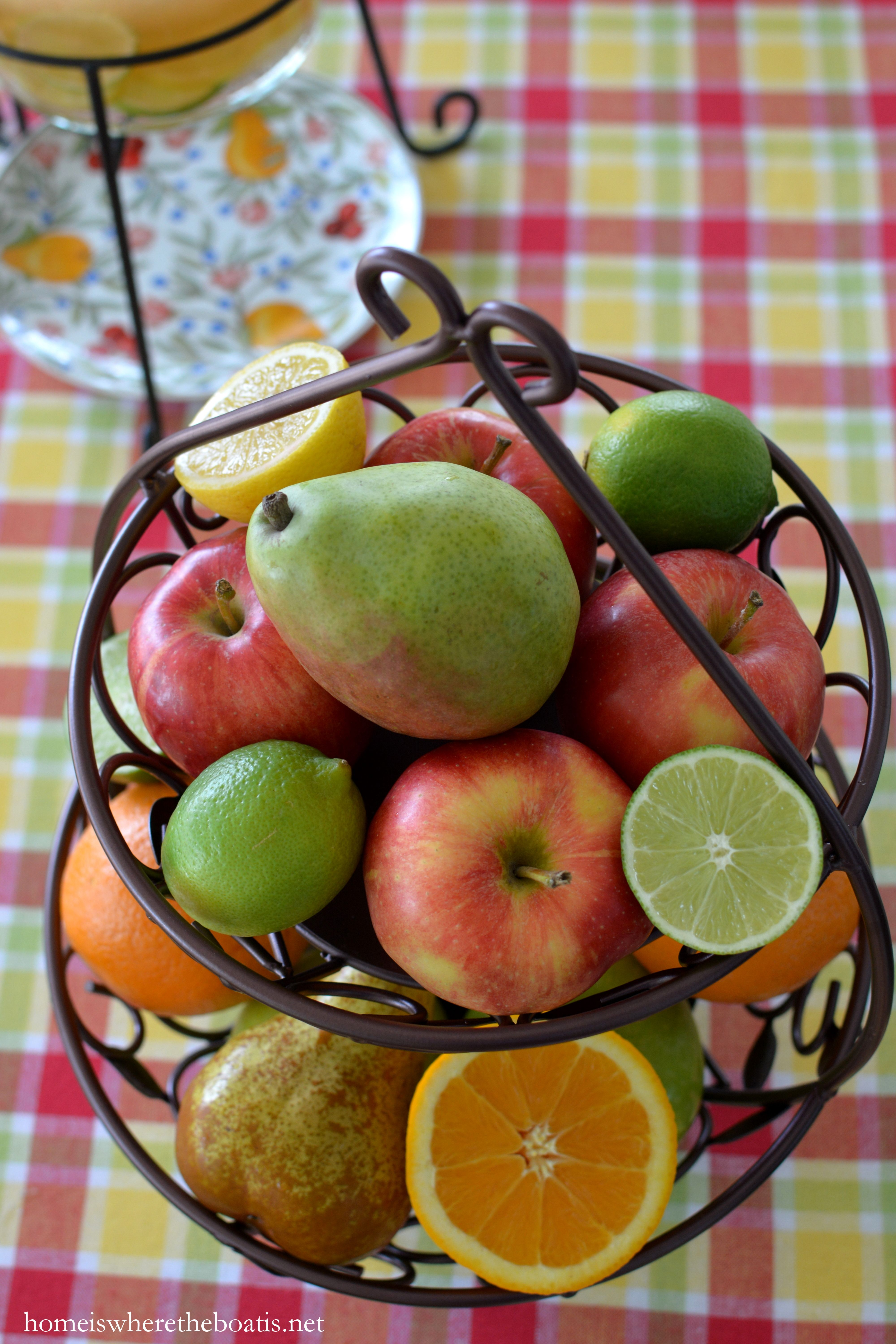 A Fruit-Bearing Table with Pfaltzgraff Orchard Grove | Family Foods ...