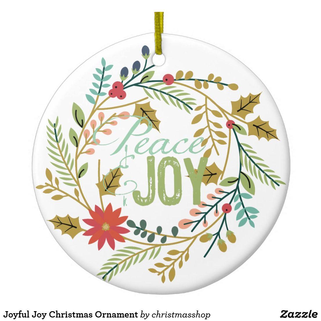 Joyful Joy Christmas Ornament