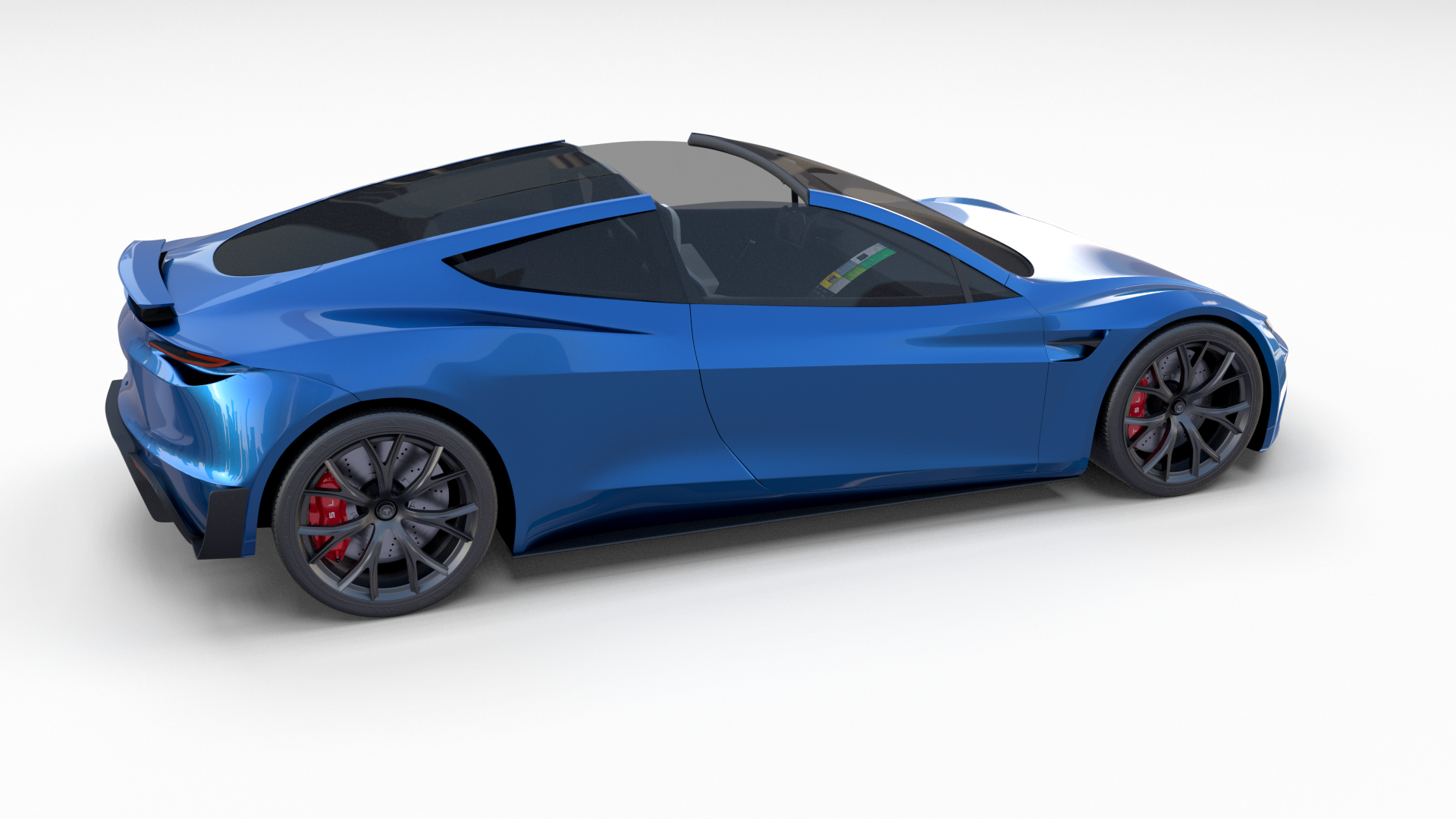 Tesla Roadster 2020 Electric Blue With Interior And Chassis Tesla Roadster Roadsters Ford Gt 2015