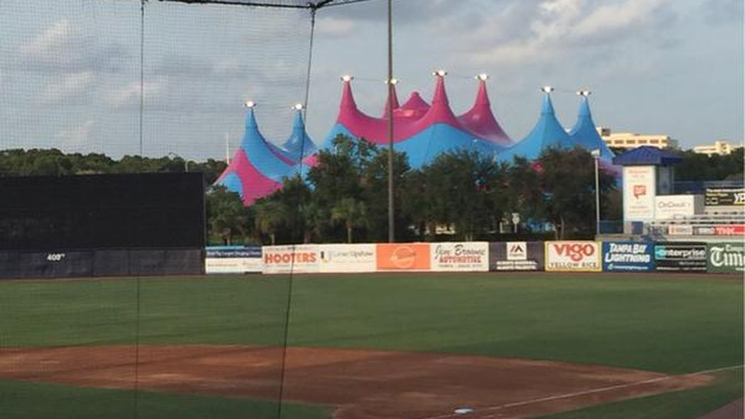 Baseball Game Delayed By A Giant Circus Tent Minor