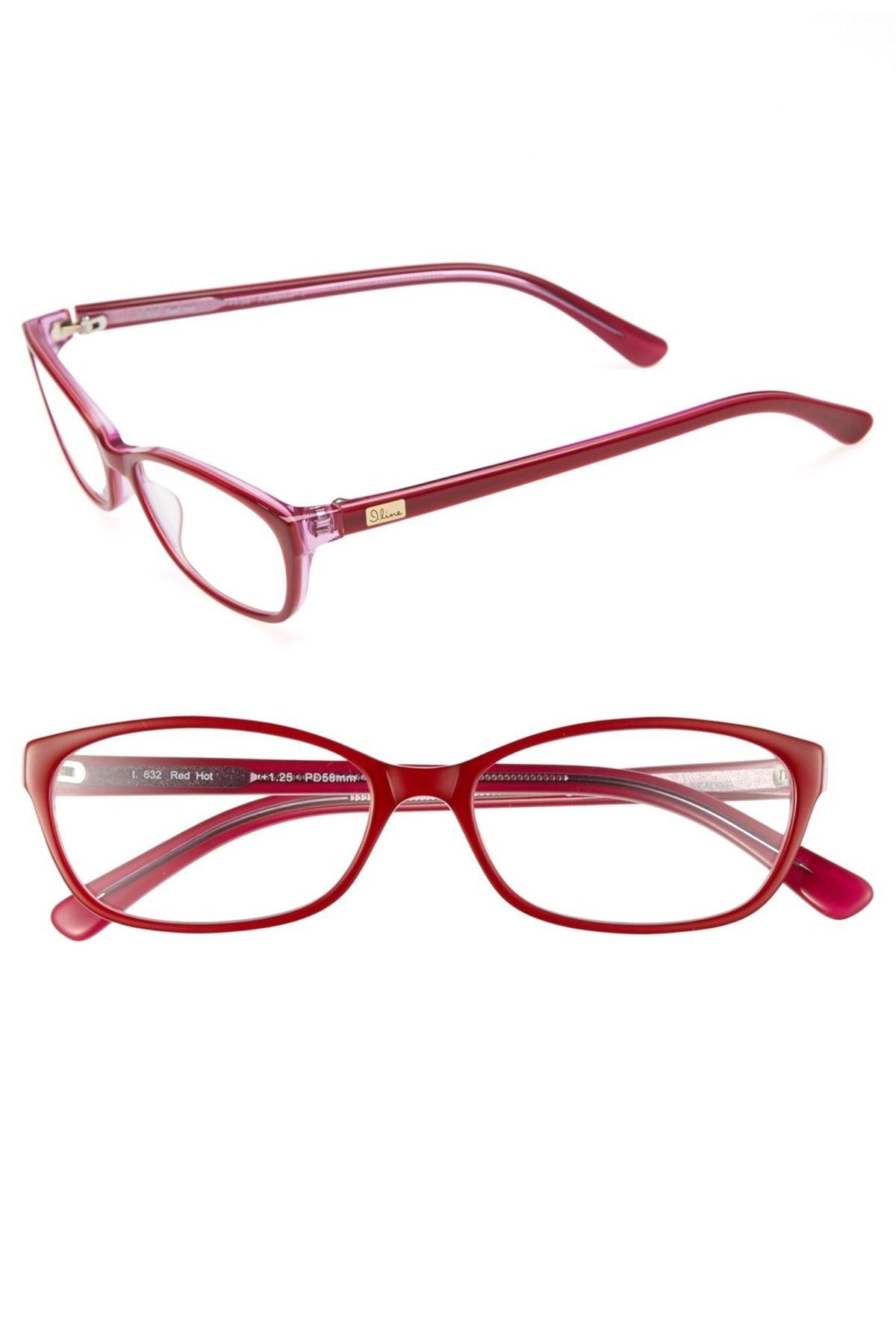 I Line Eyewear | I Line Eyewear \'Red Hot\' 58mm Reading Glasses ...