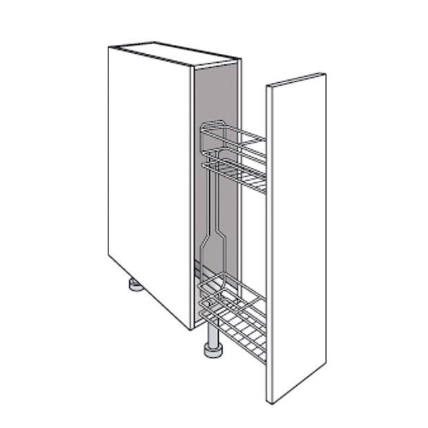 Des rangements gain de place pour une cuisine astucieuse - Panier de rangement pour armoire ...