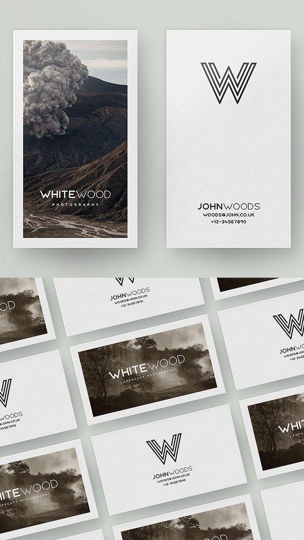 Minimal Card Mockups and Template #photography #photographer #businesscard #printdesign #psdtemplate