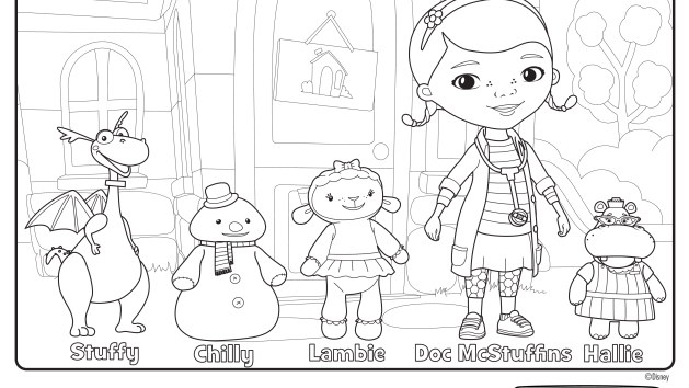 In Front Of The Clinic Doc Mcstuffins Coloring Pages Doc Mcstuffins Doc Mcstuffins Birthday Party
