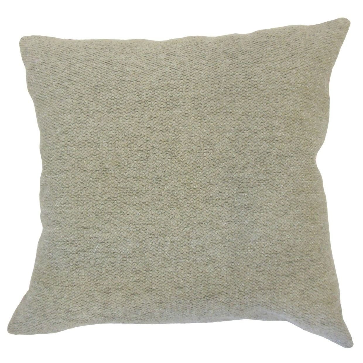 Ganice Solid Down Filled Throw Pillow In Gray Rectangle 12 X 18