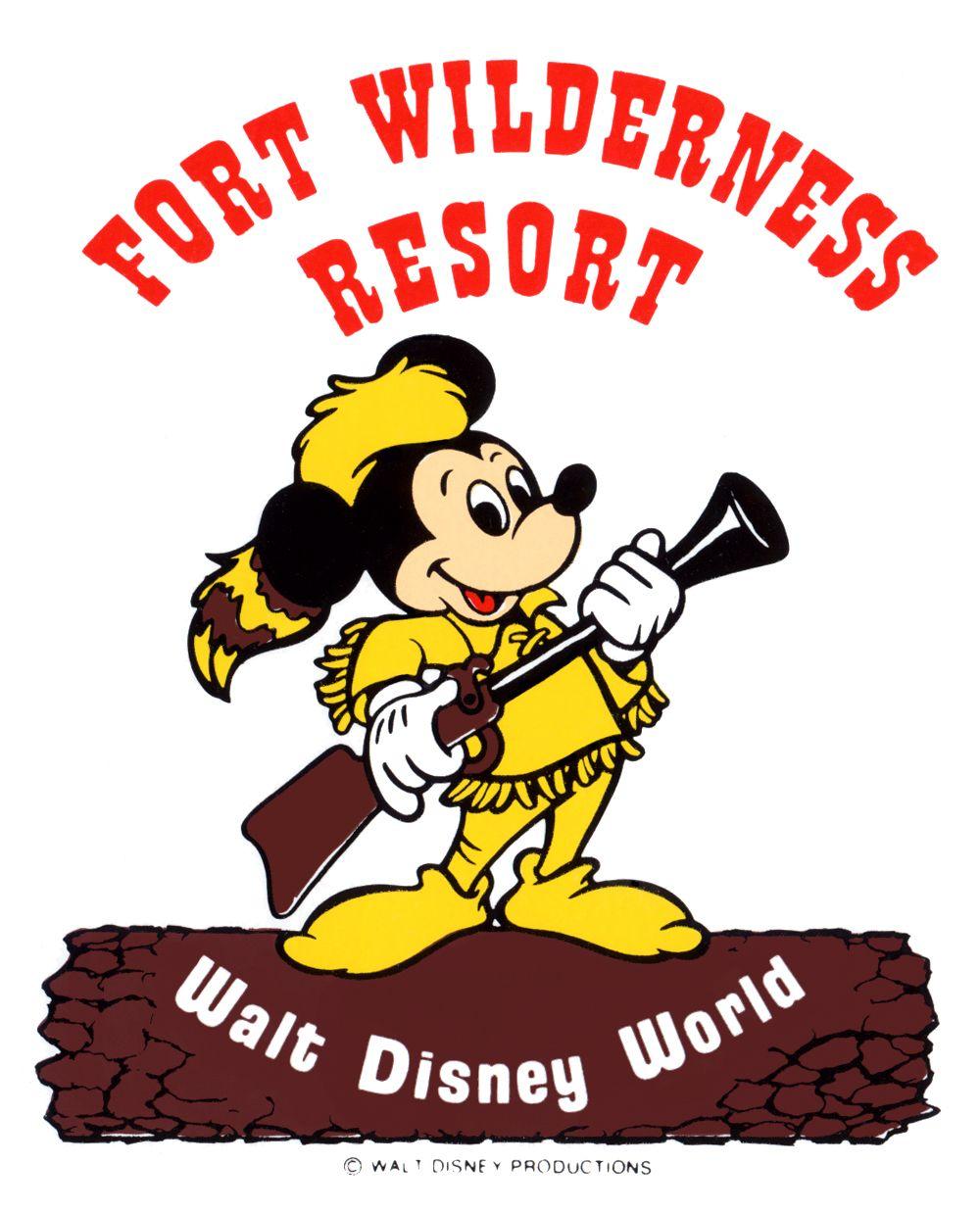 fort wilderness resort mickey mouse dressed as davy crockett