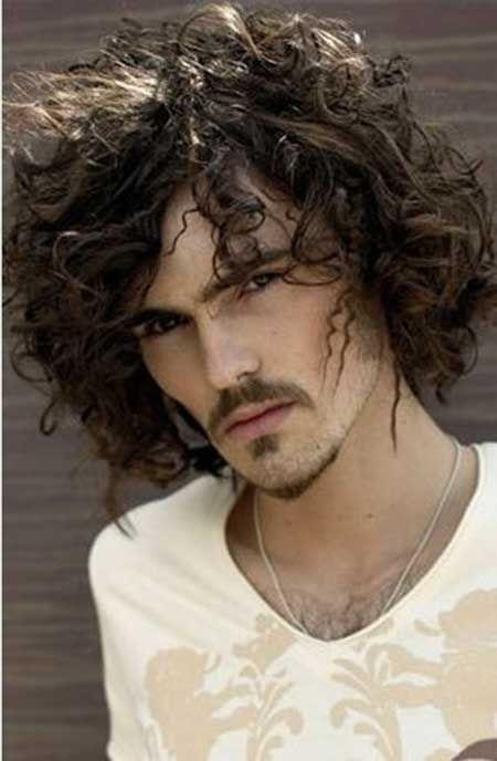Messy Is Good Long Hair Styles Men Curly Hair Men Hair Styles