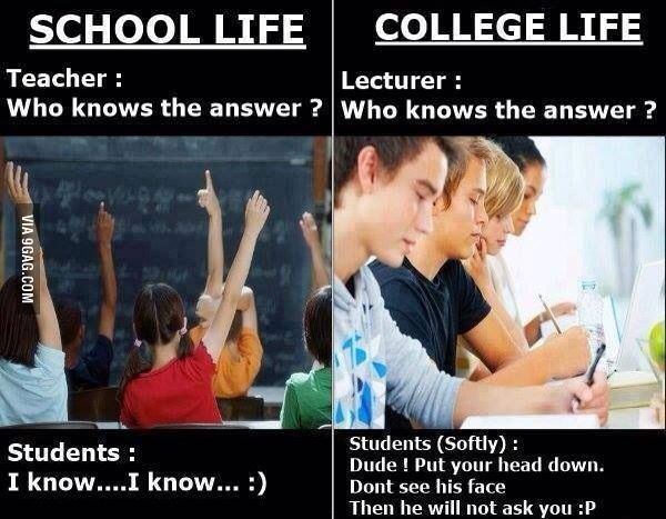 School Life Vs College Life High School Vs College College Life High School Funny
