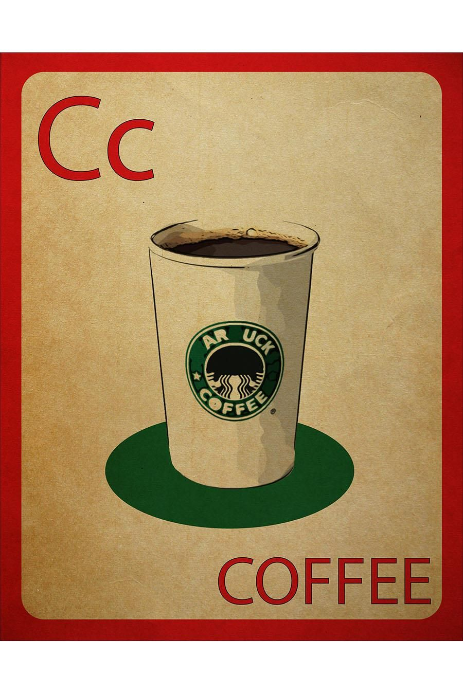 Cc is for.....Coffee! Flashcard Poster. Coffee cafe