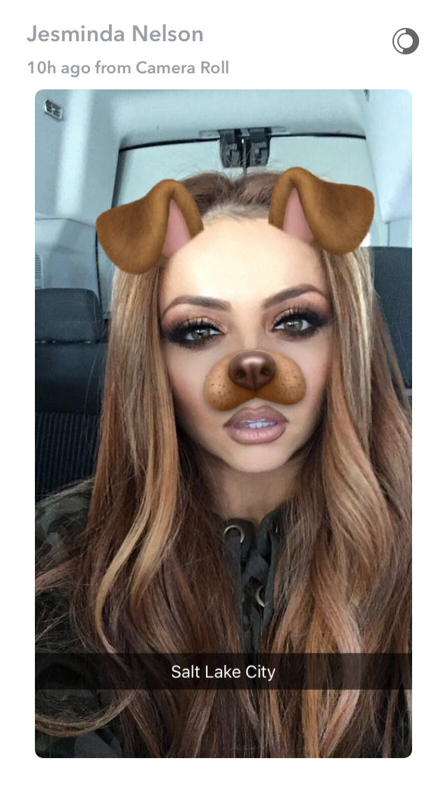 Jesy look beautiful in this snapchat filter Little mix