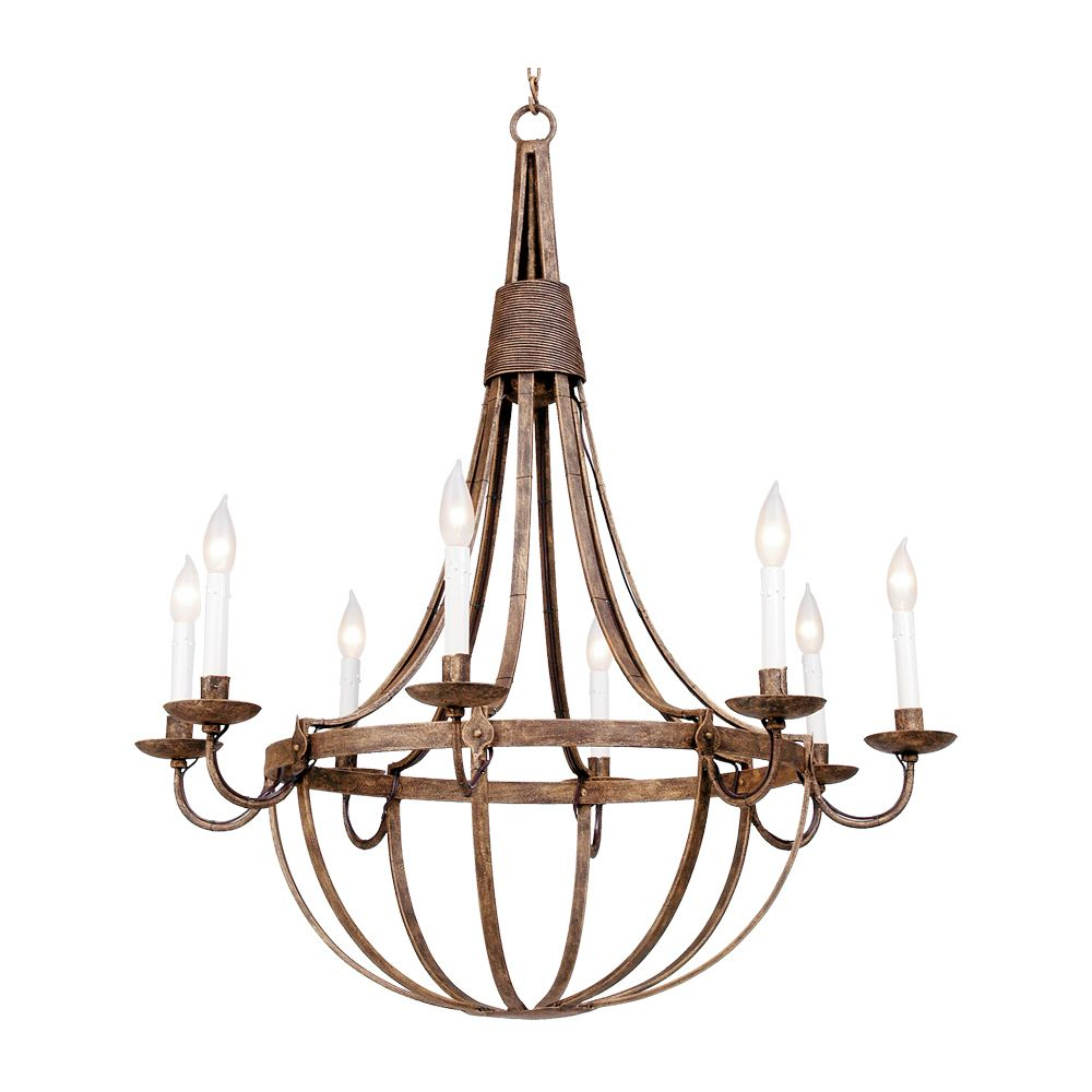 ironware lighting. Ironware International - Octavia 8 Light Chandelier. Shown In Antique Gold. Available All Lighting E